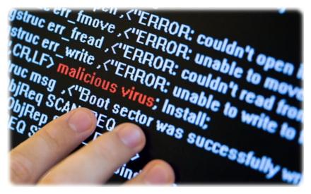 обнаружен компьютерный вирус