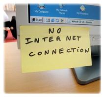 нет выхода в Интернет